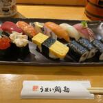 うまい鮨勘 - どの寿司も美味しいですが、中でもマグロがねっとり肉厚で美味しかったです。