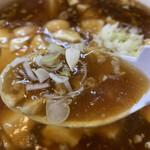 トーフラーメン 幸楊 - ドロドロの餡に、冷めない熱さ!