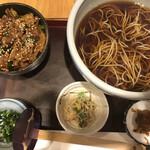 砂場 - 料理写真:カルビ丼セット