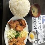味のイサム - W唐揚げ定食 ご飯大盛り 850円