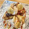 木製ロケット - 料理写真:NYチーズケーキ(バナナキャラメリゼ)