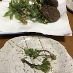 食の駅ぐんま - 料理写真:またまた揚げちゃいました もう打ち止めです、さすがにー 今年は何度コシアブラ食べれたのでしょう〜笑
