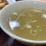 冨士乃屋 - スープも良し