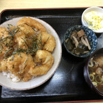 天ぷら てんちゃん - えびプリッ天丼 上から
