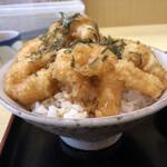 天ぷら てんちゃん - えびプリッ天丼 横から