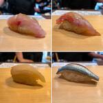 151513199 - 握り盛り 4950円(税込)                       クロムツ、金目鯛、カワハギ、コハダ