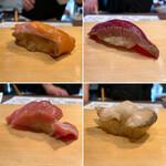 151513202 - 握り盛り 4950円(税込)                         マスノスケ、マグロ漬け、トロ、つぶ貝