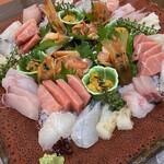 日本料理 魚夢 - お刺身4人前盛り合わせ6000円