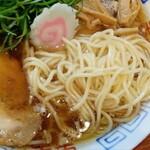麺屋 隊長 - 中華そば 細麺