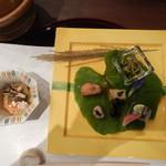 白樺 - 先附と季菜です。