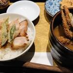 焔蔵 - ミニ豚丼と蟹汁