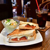 自家焙煎珈琲庵 - 料理写真:サンドイッチセット@税込890円:コーヒーをアイスにすると+50円。通常は税込840円です。