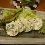 伊晃庵 - 自家製サルシッチャとほうれん草の湯葉チーズロートロ