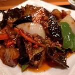 151540588 - 町中華とはちょっとレベルが違う本格的な麻婆茄子。味が濃くてごはんがススム。