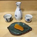 太郎源 - カラスミと日本酒