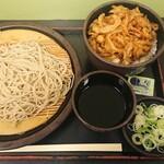 ゆで太郎 - かき揚げ丼セット¥550-