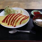 お食事処 花笠 - オムライス(600円)