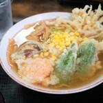 山水 - 料理写真:天ぷら中華850円