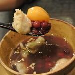 天道 - 大きな小豆粒&栗&蕎麦がき