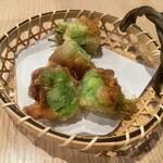 肉処 牛慎 - セロリ肉巻き天ぷら