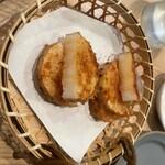 肉処 牛慎 - 山芋天ぷら
