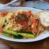 タベルナ ルゥルゥ - 料理写真:エビ、ズッキーニ、フレッシュトマトスパゲティ
