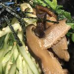 不動茶屋 - 胡瓜、椎茸 あっぷ