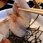 """たらこ家 虎杖浜 - たらこ丼の """" 昆布〆真鱈の刺身 """""""