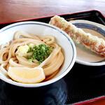 上野製麺所 - ぶっかけ冷、ちくわ天