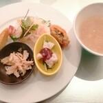 151605333 - ランチの前菜&スープ
