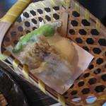 手打ち蕎麦 SOBAR UKOU  - 「野菜てんぷら(舞茸・山芋・ししとう)」アップ