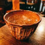 馬の串ん - 牛乳焼酎のロック