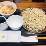 直 - 親子丼とお蕎麦のランチセット