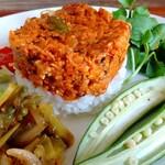 山ねこ料理店 - 料理写真:グリーンミートヴィーガンキーマカレープレート