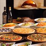 レストラン セントロ - ピザ&パスタ 新緑の庭園ブッフェ