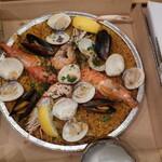 Bar espana carne - セットの魚介パエリア