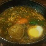 カレー食堂 心 - 納豆とオクラ