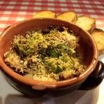フリッタフラッタ - まつぶ貝とエリンギのオーブン焼き エスカルゴバター   ワインにはコレ!