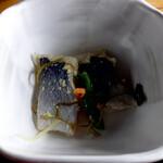 北のランプ亭 - 海鮮炭焼定食のニシンの酢漬け
