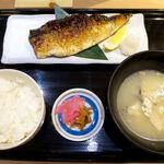 沼津海いち - 本日の焼き魚定食(¥1000)。オーブンでじっくり焼き上げるので、15分ほど掛かる