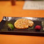 日本料理 たかむら - 平貝を炙って