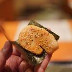 日本料理 たかむら - 海苔に巻く