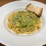 イタリア料理を食べに行こう - そら豆としらすのペペロンチーノ