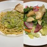 イタリア料理を食べに行こう - パスタ&サラダ