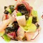 15168715 - 鮮魚の酢味噌和え。