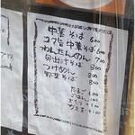chuukasobaeiji - メニュー