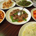 會賓楼 - 円卓に大皿料理