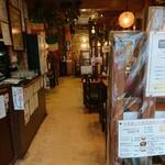 イタリアン ピザ レストラン トスカーナ - 一階のフロアーになります。