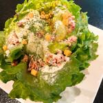 村民食堂 - シャキッとレタスのシーザーサラダ