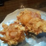 自家製麺 麺や ひなた - ひなたセットの唐揚げ